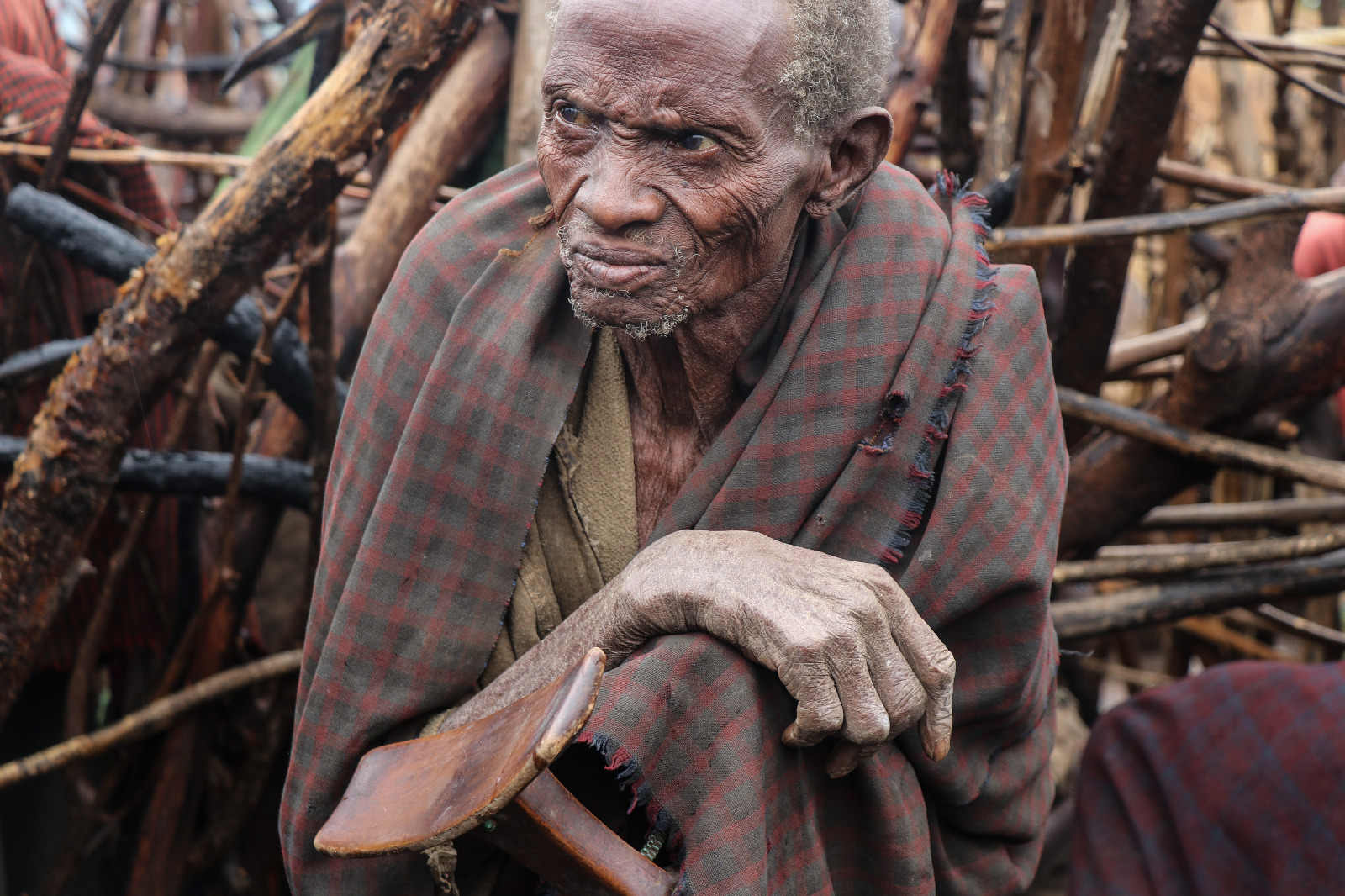 Miembro de la tribu Ikk, que se encuentra en pequeños poblados al norte del país.